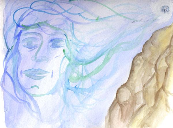 Watecolor Sketch - Wind Spirit